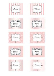 Merci - thank you gift tags