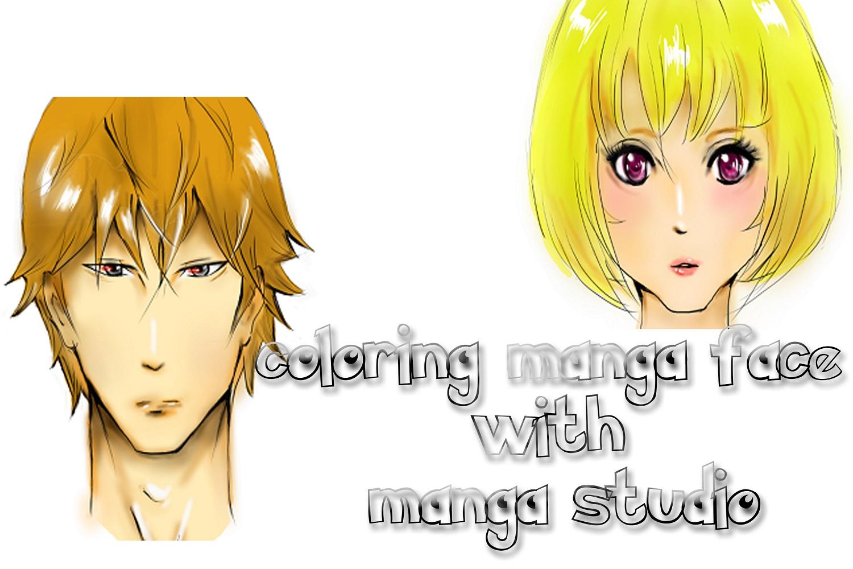 Mewarnai wajah manga dengan manga studio