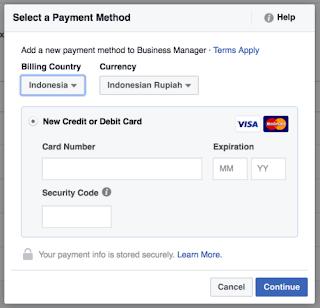 Untuk menambahkan payment method