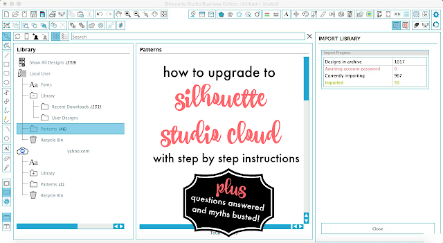 Silhouette Studio, Silhouette tutorial, Silhouette Studio cloud, instructions