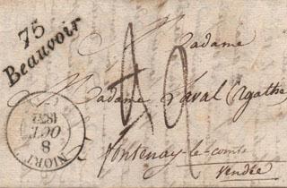 Une lettre écrite en 1832