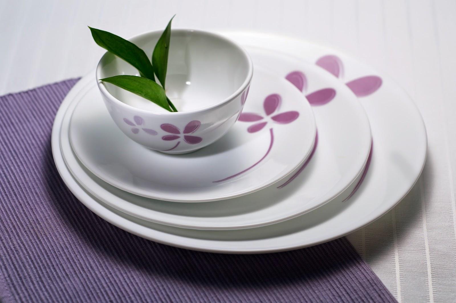bát đĩa - gốm sứ Minh Long