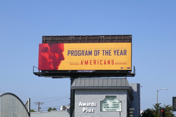 Americans final season Emmy nominee billboard