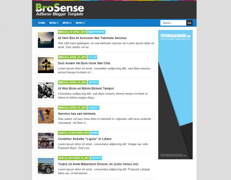 [Download] Brosense, Template Paling Pas Untuk Menaikkan CTR Adsense