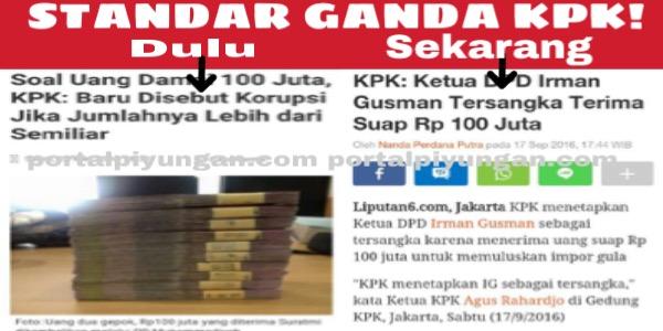 STANDAR GANDA! DULU, KPK: Disebut Korupsi Kalau Uangnya Di Atas 1 M, SEKARANG 100 Juta pun Dikejar