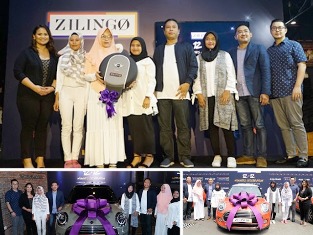 Dua Warga Bandung Dapatkan Satu Unit Mini Cooper dari Kampanye Zilingo 12.12 Celebration