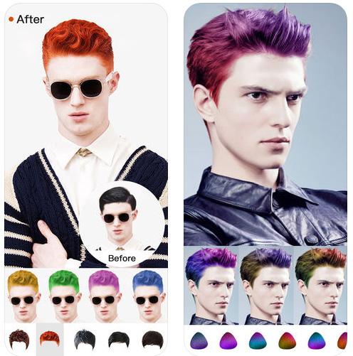 Hair Style Salon&Color Changer تطبيق خرافي يقوم بقص الشعر للايفون