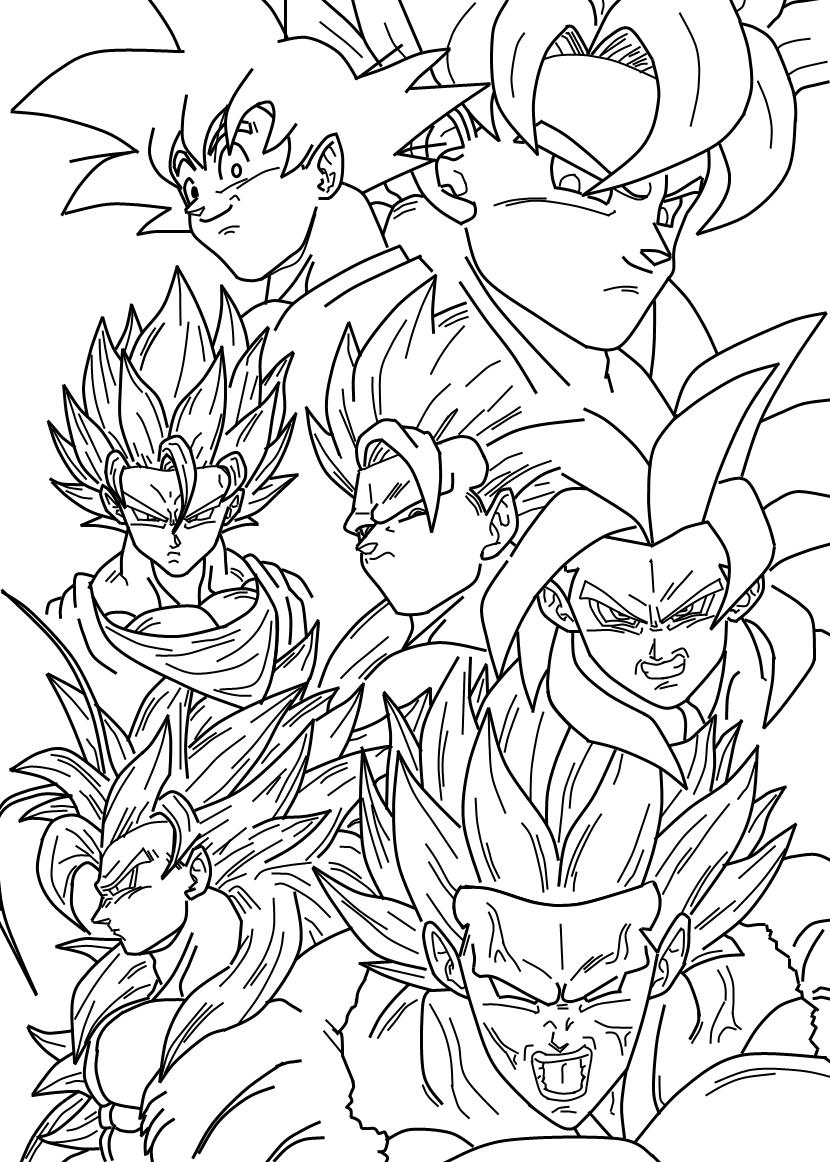 40 Desenhos De Dragon Ball Z Para Colorir Pintar Imprimir Gratis
