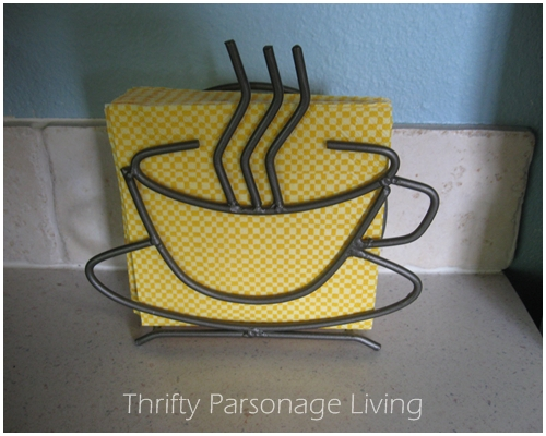 The Napkin Holder And Napkins Were Purchased From A Garage For 25 Cents Each They Both Brand New Still In Package