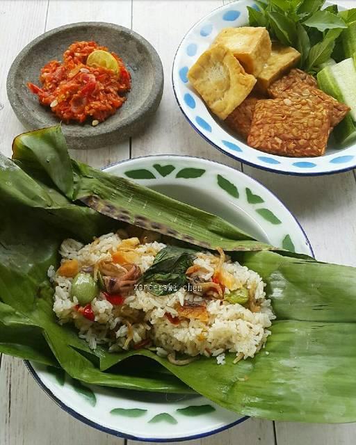 nasi liwet bakar by xanderskitchen