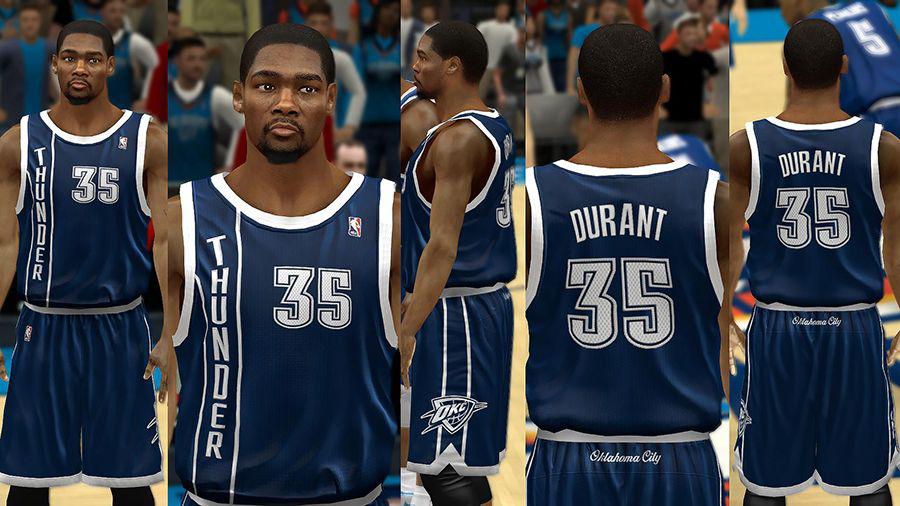 sale retailer 5c939 454c9 NBA 2K14 Oklahoma City Thunder Jersey Pack - NBA2K.ORG
