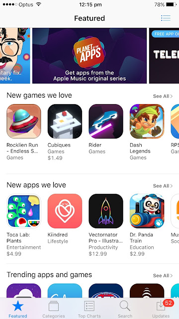 Rocklien Run in App Stores New games we love list in Australia and NZ Image
