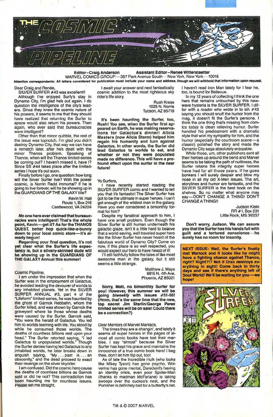 Read online Silver Surfer (1987) comic -  Issue #46 - 33