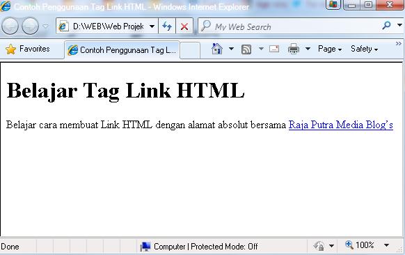 cara membuat link atau tautan HTML