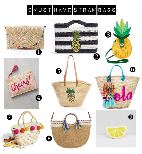 9 Must Have Straw Bags This Summer