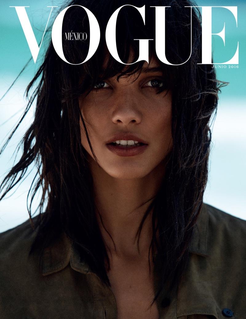 Cora Emmanuel wears beachwear for Vogue Mexico
