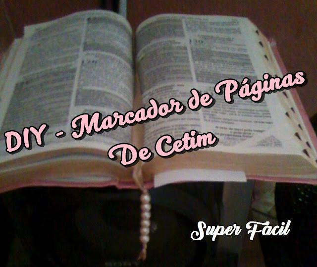DIY - Marcador de Páginas De Cetim