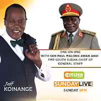 Here's the amount of money JEFF KOINANGE was paid by South Sudanese warlord GENERAL MALONG  to do PR for him on Citizen TV.