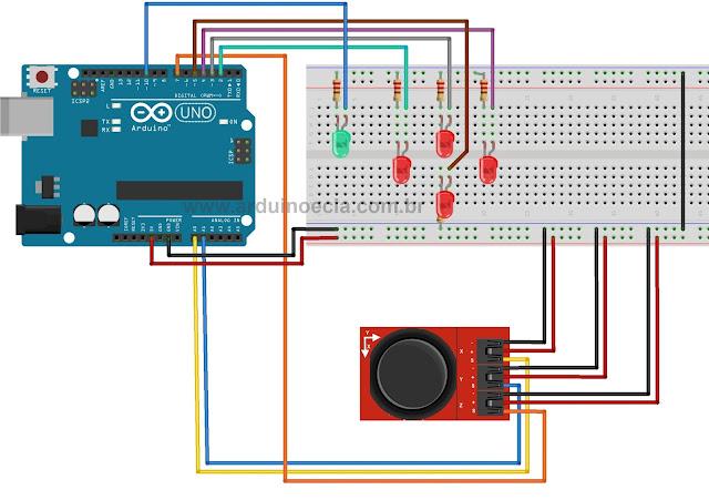 Circuito - Arduino com módulo joystick