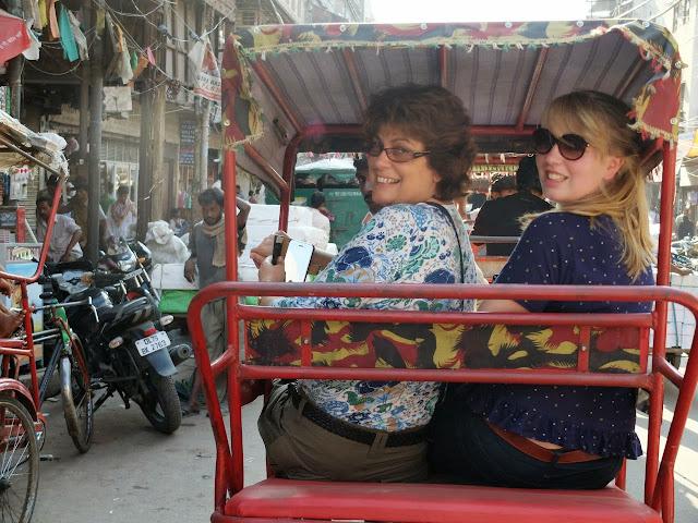 A food tour of Delhi starting in rikshaw