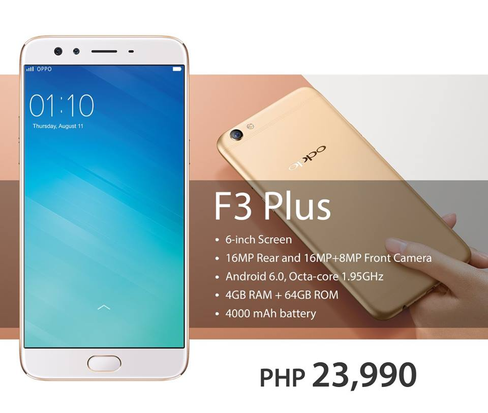 save off 5f264 7b66f Pre-Order Now Your OPPO F3 Plus from Lazada and Get These Freebies ...