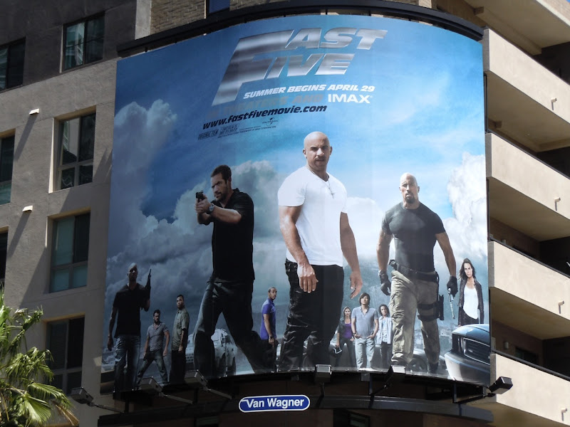 Fast Five movie billboard