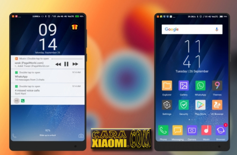 MIUI Theme Samsung S8 Light Mtz V9 Theme [WhatsApp & Playstore]
