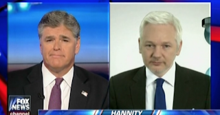 "After Once Calling For ""Arrest"" Of Julian Assange, Now That He's Attacking Clinton, Hannity Hopes For His Release"