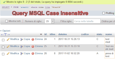 mysql query case insensitive