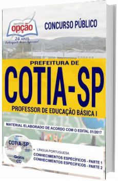 Apostila Concurso Prefeitura de Cotia 2018 Professor de Educação Básica I