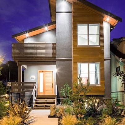 una casa clsica con buen uso de la madera como elemento y de decoracin