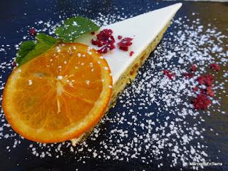Tarta de naranja y semillas de amapola