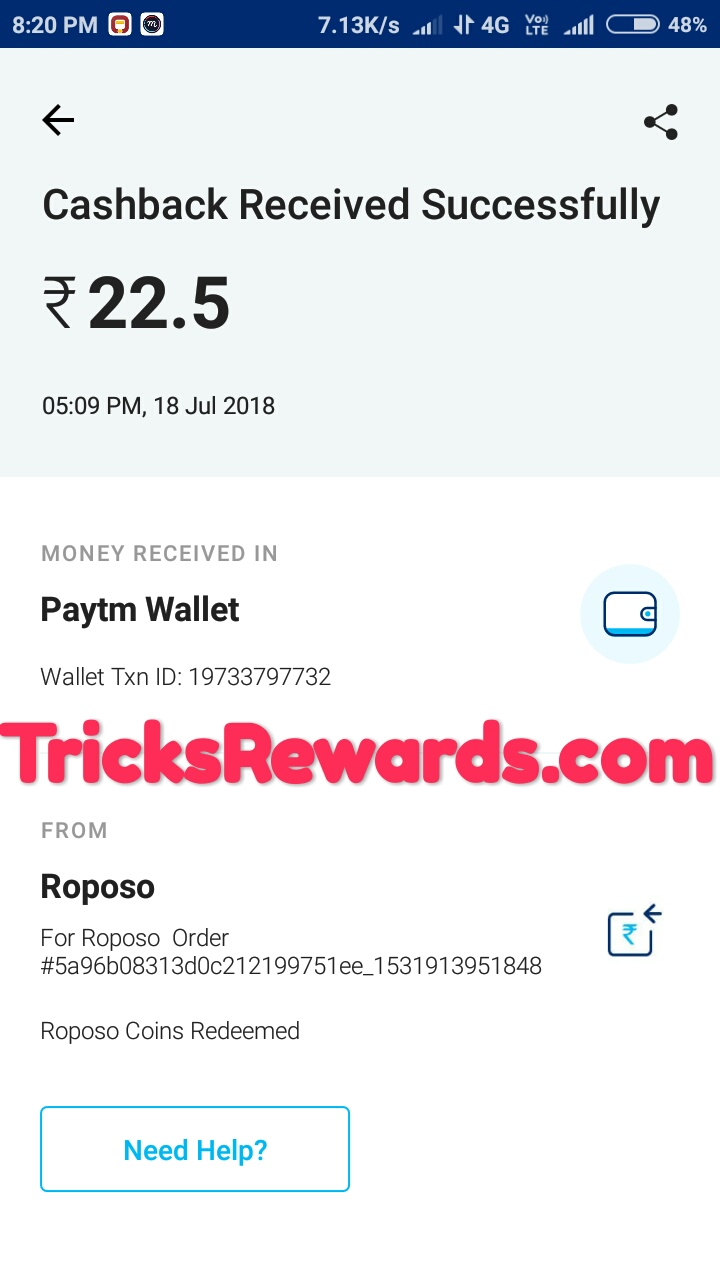PROOF] Roposo app : Best app to get unlimited free paytm