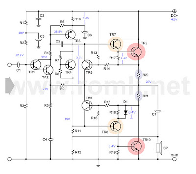Power Amplifier transistor (EDWIN) bercatu daya tunggal