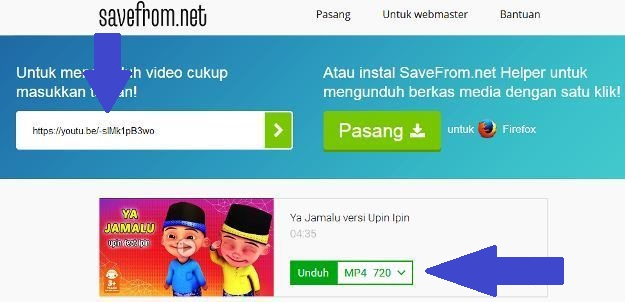 Download Melalui Savefrom