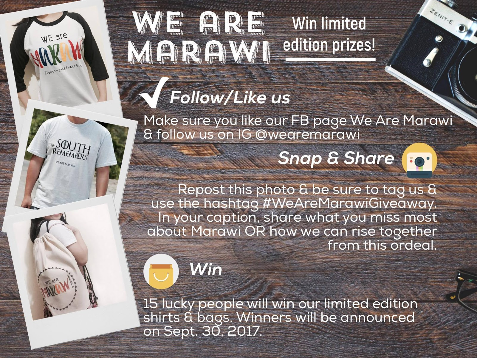 We are Marawi Giveaway