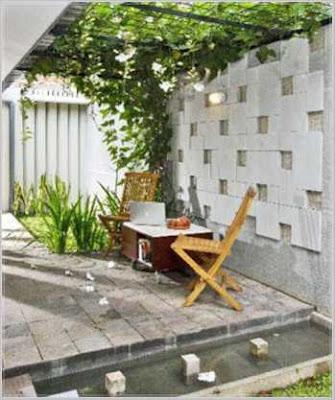 model taman belakang rumah asri