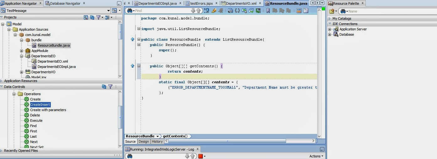 How to show attribute level validation message programatically in