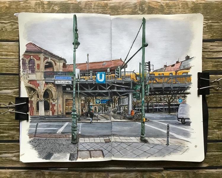 Berlin gezeichnet von Keir Edmonds