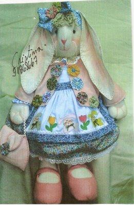 Coelha+Madeleine - Molde Coelhinha em tecido