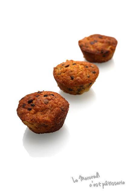 Muffins à la poire et au chocolat