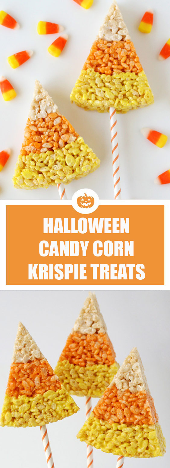Candy Corn Crispie Treats