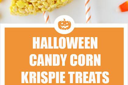 Candy Corn Crispie Treats