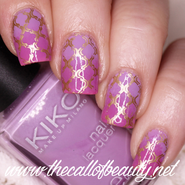 Lilac and Pink Moroccan Manicure