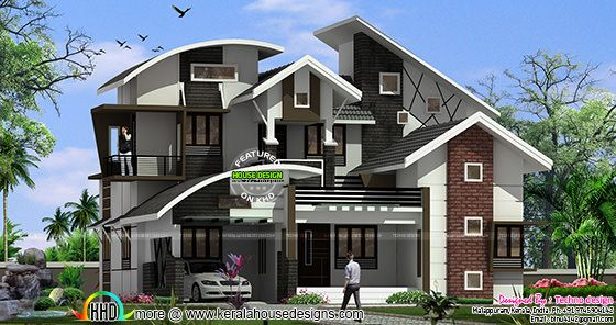 All style roof home architecture
