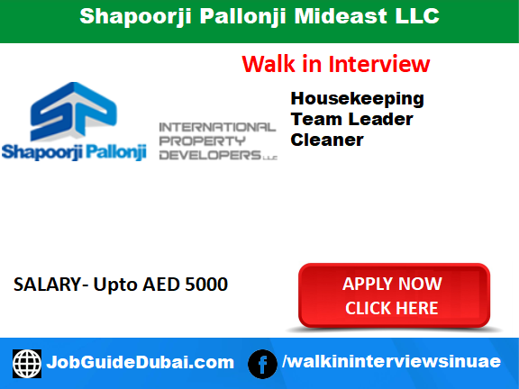 Shapoorji Pallonji Mideast LLC  Career for Civil Construction and MEP jobs in Dubai UAE