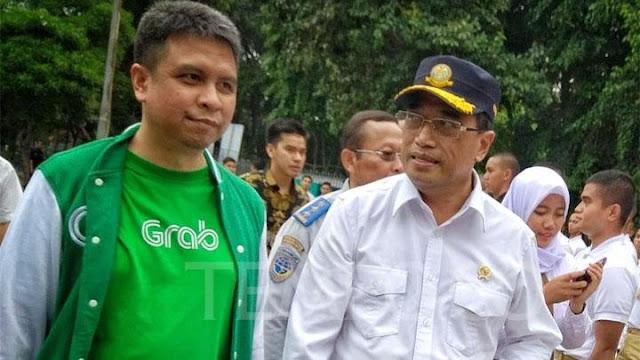 Hingga Menhub Pun Harus Turun Tangan Minta Pengemudi Grab Promosikan Jokowi