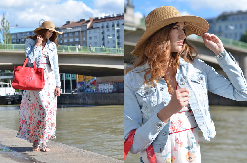 Orsay Blumenkleid Stylebreaker Hut ganz Blick in Ferne