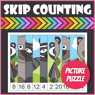 Woodland Animals Skip Counting Picture Puzzle