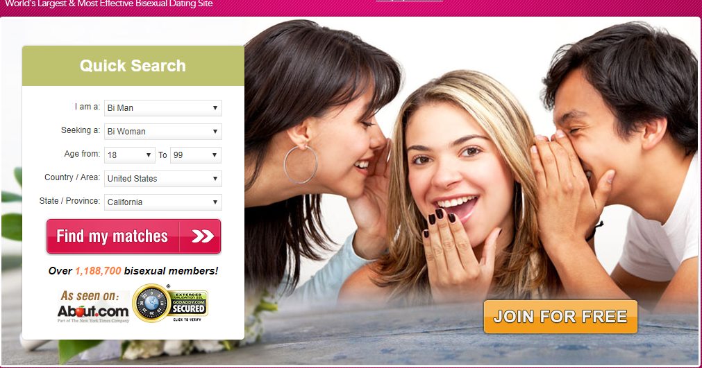 bisexual dating sites 100 free Free dating site based on category, interest criteria, available on mobile, desktop this is not a so called quasi 100% free dating site, you shall get even more features than paid options here search singles based on city, country, age, sex, marital status, type of dating interest, among others.
